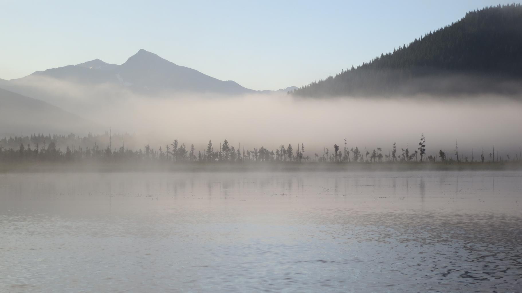 Bowron Lakes Nebel